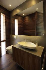 Hardwood In Powder Room Casa Veintiuno By Hernandez Silva Arquitectos