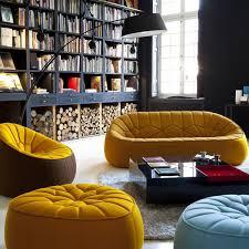 pouf pour canapé canapé fauteuil pouf ottoman pour cinna par le designer noé