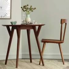 Mid Century Bistro Table Mid Century Round Dining Table 44 U0026quot Walnut Round Dining