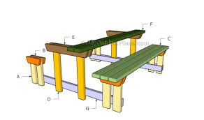 picnic table plans detached benches picnic table with detached benches plans myoutdoorplans free