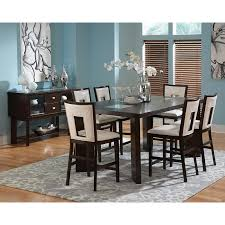 7pc Dining Room Sets Steve Silver Montibello 7 Piece Marble Top Rectangular Dining Set