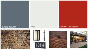 Color Scheme Modern Mid Century Home Exterior Mood Board Midcentury Paint