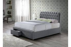 grey double bed frame fabric double bed frame grey grey double bed