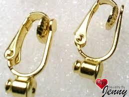 earring converters on barrel pierced to clip earring converter gold earring