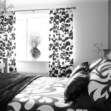 bedroom black and white bedroom tab top linen cotton curtain sets
