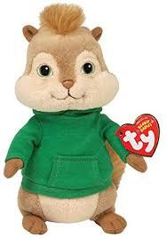 ty uk beanie baby alvin chipmunks theodore plush toy