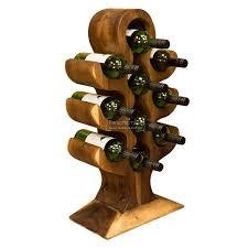 monkey pod tree wine rack carved wooden tree wine holder