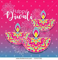 diwali festival greeting card diwali diya stock vector 727877152