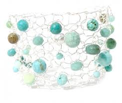 turquoise opal turquoise u0026 green opal silver cuff bracelet limited edition