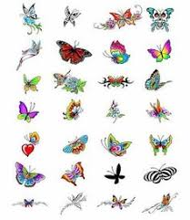tiny butterfly tattoos colorful children s tattoos small
