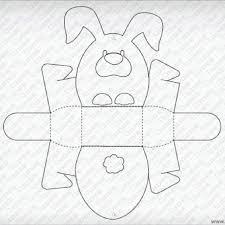 template for easter bunny basket eva artesanato pinterest