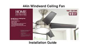 how to install 44 in windward ceiling fan youtube
