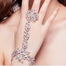 hand chains bracelet images Fashion bridal bracelet rhinestone hand chain summer style jpg