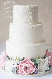 wedding cake three tier pearl studded white wedding cake 2694712 weddbook