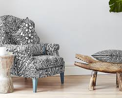 Patterned Armchair Black And White Pattern Chair