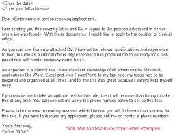 clerical officer job application letter example learnist org