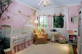 Pink And Brown Curtains For Nursery by Bedroom Wonderful Pink Curtain Facing White Crib And Flowery