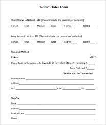 Free Change Order Template Excel Order Forms Blank T Shirt Order Form Template More 25 Best Order