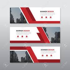 layout banner template red abstract corporate business banner template horizontal