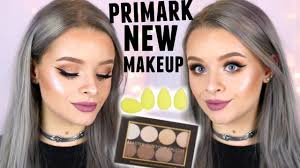 trying new primark makeup contour kit highlighters metallic