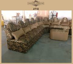 Sofa Set U Shape Saudi Arabic Dubai Style U Shape Luxury Fabric Sofa Sets Salon