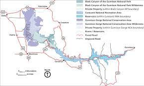 Montrose Colorado Map by Black Canyon