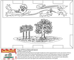 flag prince edward island coloring free printable