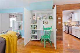 office closet system home office eclectic with green desk chair