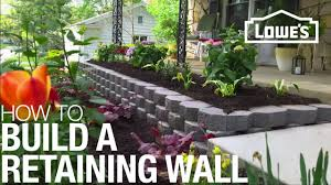 Building A Raised Patio With Retaining Wall how to build a retaining wall youtube