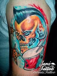 jani joins tattoo prime u2022 colour tattoo u2022 skull and drums tattoo