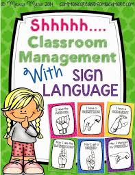 Bathroom Sign Language Shhhh Classroom Management With Sign Language Free Posters