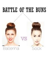 sock hair bun hair battle