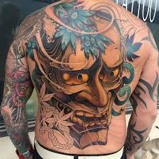 35 oni mask tattoos with mysterious and powerful meanings