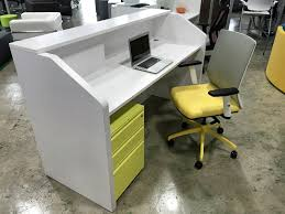 Computer Desk In White by Pai T Jgzlp22 Staggered Reception Counter Desk In White Melamine