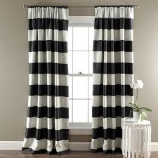 Room Darkening Curtain Rod Birch Kids Regatta Striped Room Darkening Thermal Rod Pocket