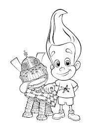 jimmy neutron coloring pages download print free