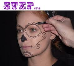 mexican skull makeup sugar skull dia de los muertos