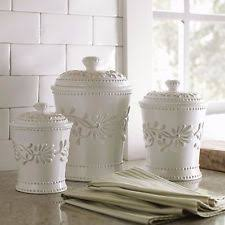 white ceramic kitchen canister sets ebay