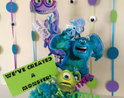centerpieces for baby shower monsters inc baby shower etsy