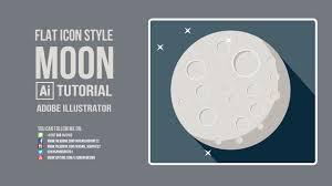 flat style tutorial moon flat icon adobe illustrator cc 2015