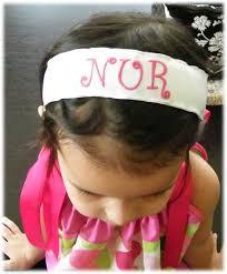 monogram headband posh bowtique hair bows pillowcase dresses cloth pads