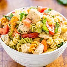 recipes for pasta salad italian chicken pasta salad averie cooks