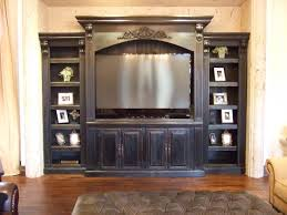home theater entertainment center black painted custom entertainment center and shelving for the