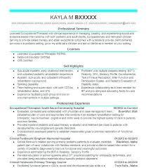 respiratory therapist resume objective occupational therapy resume sample occupational therapist resume