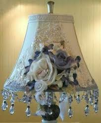 tutorial how to make a lace lampshade from a lace shirt so clever