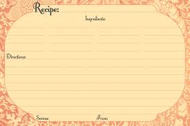 awesome collection of christmas recipe card template free editable