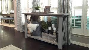 Farmhouse Console Table Classy Handmade Farmhouse Furniture Designs You Could Diy