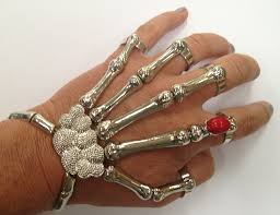 skull hand bracelet images Silver punk rock gothic skeleton bone hand talon claw skull jpg