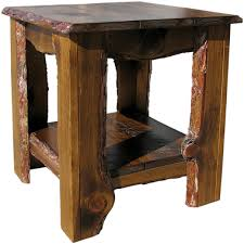 Rustic End Tables Rustic Sawn End Table