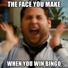 Excited Memes - the face you make when you win bingo jonah hill excited meme